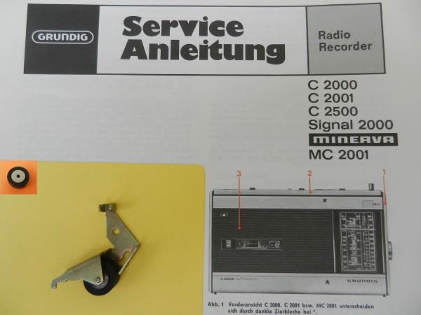 Tonrolle für C 2000 C2000 C2001 C2500 Radiorecorder von GRUNDIG