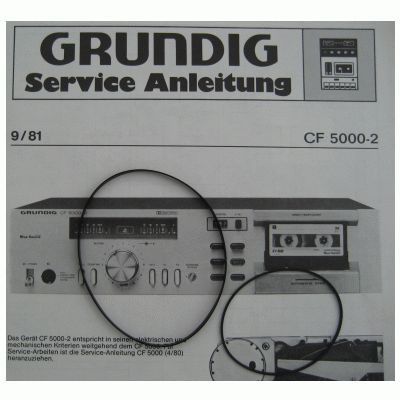 CF5000 / 5000-2 Riemen SET Grundig