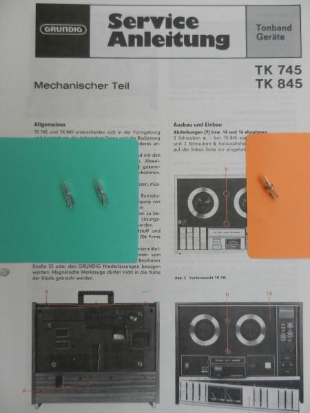 TK 745 / TK 747 / TK 845 / TK 850 Lämpchen SET für Tonbandgerät GRUNDIG