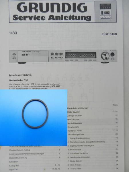 SCF6000 6100 6200 Grundig Schubladen Riemen