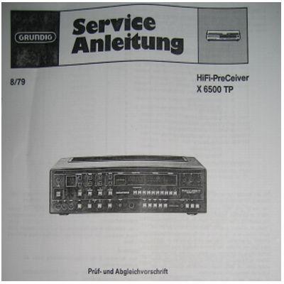 Service Manual - X6500 Hifi Preceiver