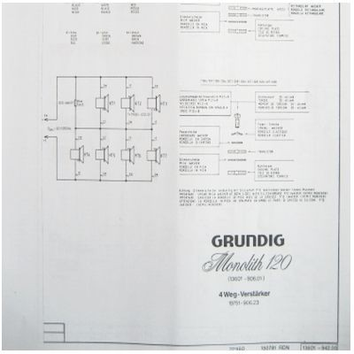 Schaltplan - Monolith 120 - 4 Wege - Aktiv Box
