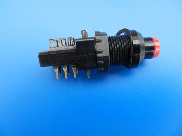 Meßgeräte Schalter 2 x ein/aus von Grundig mit Beleuchtung 12V 40mA rot