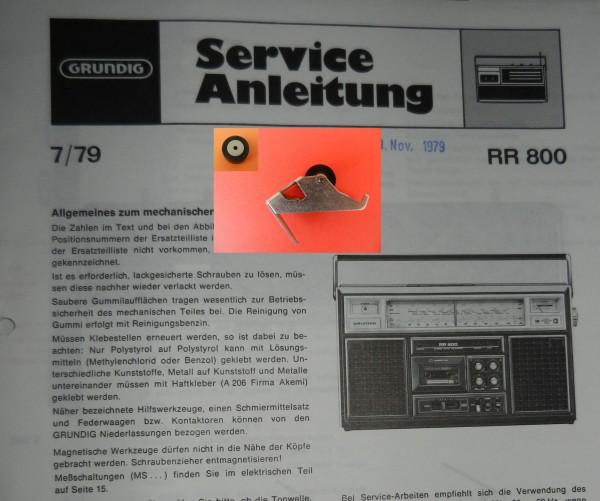 Tonrolle für RR800 RR 800 Radiorecorder von GRUNDIG