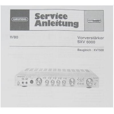 Service Manual - SXV 6000 / XV7500 Vorverstärker