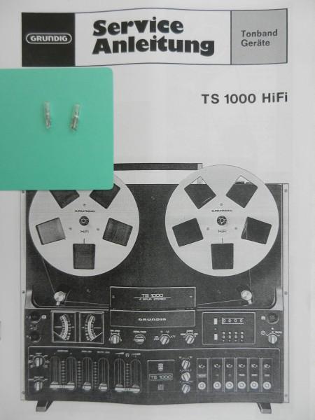 TS 1000 Lämpchen SET für Tonbandgerät GRUNDIG