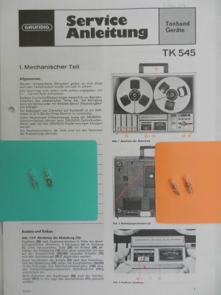 TK 545 TK 547 Lämpchen SET für Tonbandgerät GRUNDIG