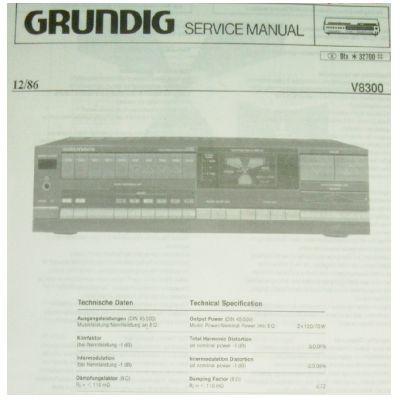 Service Manual für V 8300 Hifi - Verstärker
