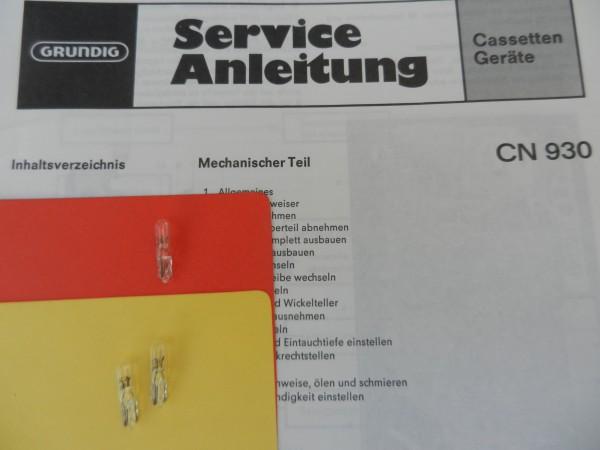 Lämpchen für Tape CN930 CN 930 GRUNDIG SET
