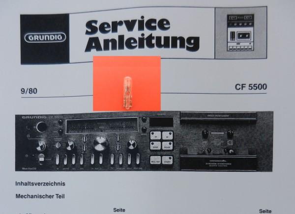 Lämpchen für Tape CF 5500-2 GRUNDIG
